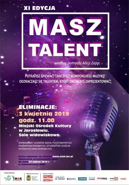 Plakat do Masz Talent - eliminacje w Jarosławiu